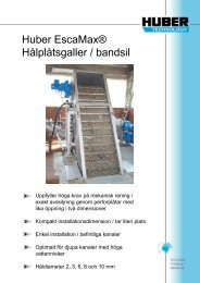 Huber EscaMax® Hålplåtsgaller / bandsil - Hydropress Huber AB
