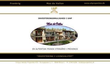 Mas du Vallon Frankrig - UHProperties.dk