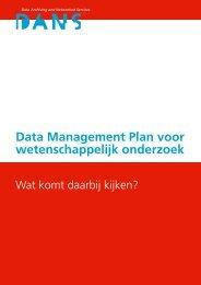 Data Management Plan voor wetenschappelijk onderzoek