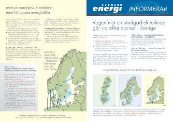 """Svensk Energis folder """"Vägen mot en utvidgad elmarknad…"""" (PDF 1 ..."""
