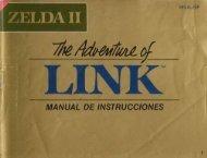 Manual Zelda 2: The Adventure of Link - Manuales de videojuegos