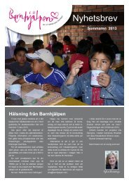 Nyhetsbrev - Barnhjälpen