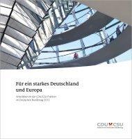 Für ein starkes Deutschland und Europa - CDU/CSU-Fraktion im ...