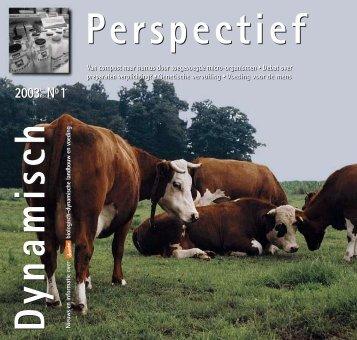 Dynamisch Perspectief 2003 - BD-Vereniging