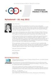 Nyhedsmail - 10. maj 2012 - CFIR