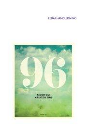Ledarhandledning 96sidor om kristentro - Svenska Kyrkans Unga