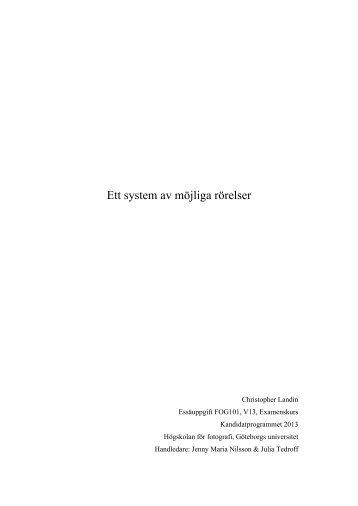 Ett system av möjliga rörelser - Christopher Landin