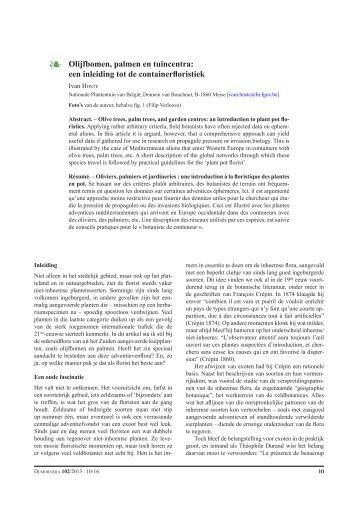 een inleiding tot de containerfloristiek - Nationale Plantentuin van ...