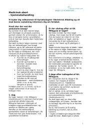Medicinsk abort - hjemmebehandling - Sygehus Vendsyssel
