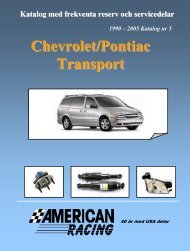 Chevrolet Transport No:5 - American Racing AB