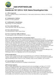 Årsmöte 2012-11-19 - Habo Sportfiskeklubb