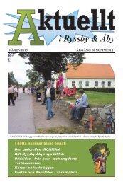Våren 2013 - Ryssby-Åby församlingar