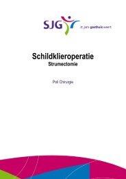Schildklieroperatie - SJG Weert