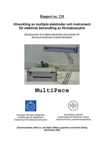 Multipla elektroder för elektrisk behandling av förmaksarytmi