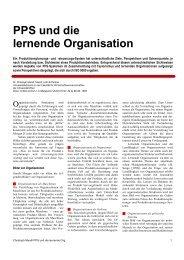 PPS und die lernende Organisation - Mandl, Lüthi & Partner