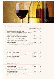 Österreichische Weißweine Österreichische Rotweine ...