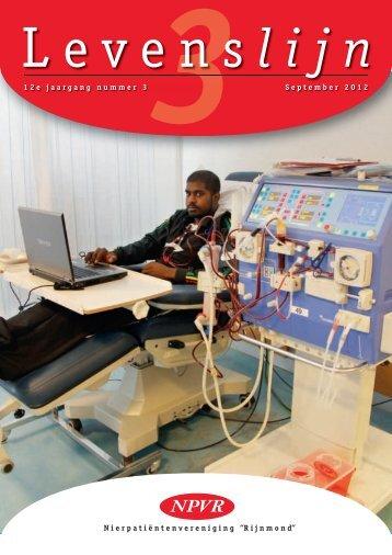 Levenslijn 2012 nr. 3 - Nierpatiënten vereniging Rijnmond NPVR