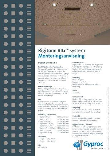Rigitone BIG™ system Monteringsanvisning - Gyptone
