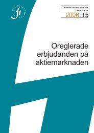 Oreglerade erbjudanden på aktiemarknaden - Finansinspektionen
