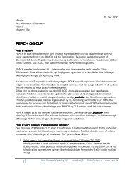 REACH brev til Yara Danmark Gødnings kunder