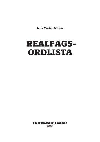 Realfagsordlista - Studentmållaget i Nidaros