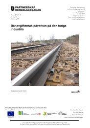 Banavgifternas påverkan på den tunga industrin - Bergslagsbanan