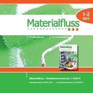Materialfluss - Redaktionsvorschau 1-2/2010 - materialfluss.de