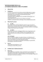 RETNINGSLINJER FOR Ucrew, ETTÅRINGSTJENESTEN I NMS I ...