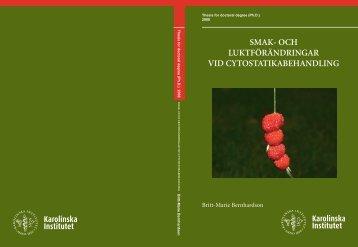 smak- och luktförändringar vid cytostatikabehandling - Publikationer ...