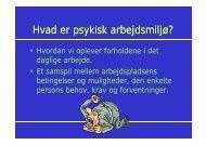 Hvad er psykisk arbejdsmiljø?