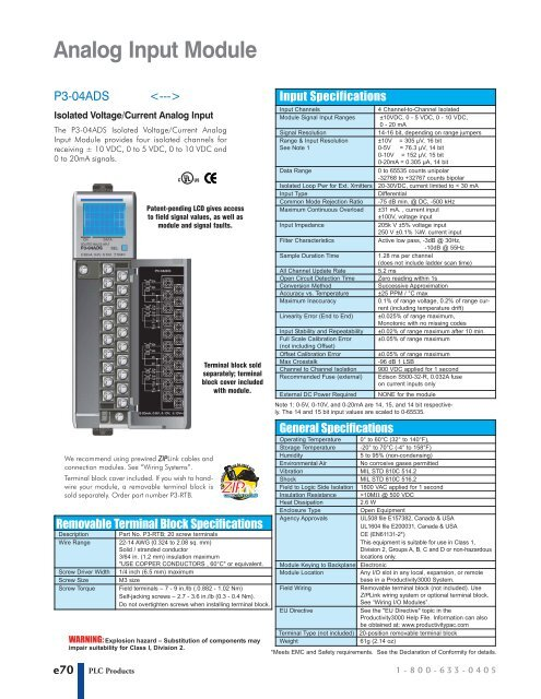 New Automation Direct P3-16TD2 Sourcing Output PLC Module Productivity 3000