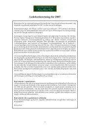 Ledelsesberetning for 2007 - Nielsen - Global Value