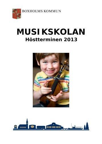 Musikskolans broschyr. - Boxholms kommun
