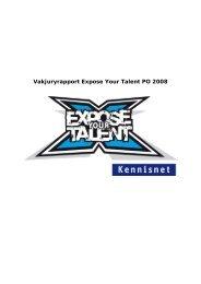 Vakjuryrapport Expose Your Talent 2007 - De Vrolijkheid