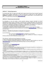 REGLEMENT COMPLET JEU ANNIVERSAIRE LACTEL MAX ...