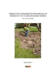 Rapport Gannarve, Lokrume - ArkeoDok