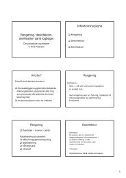 (Microsoft PowerPoint - 2. dag, reng\370ring, desinfektion ... - OUH.dk