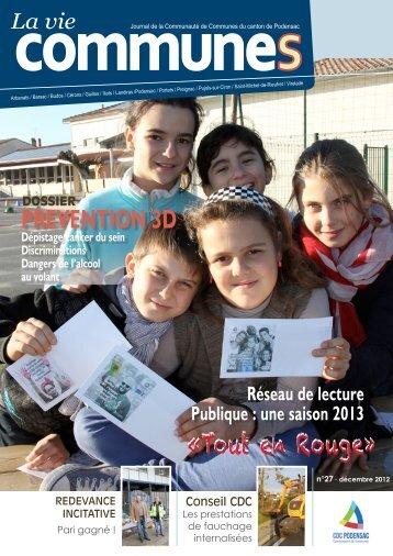 prevention 3d «Tout en Rouge» - Communauté de communes du ...