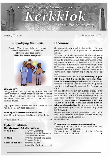 Editie 2011 10 24 September 21 Oktober 2011 Heilig Hart