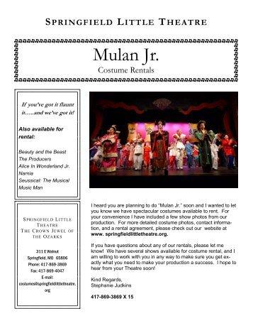 Disneys mulanjr castofcharacters theensembleprovides mulan jr the springfield little theatre fandeluxe Gallery