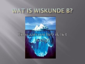 Wat is wiskunde a? - Connect College