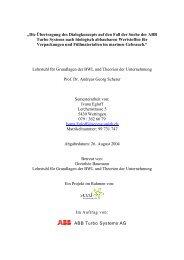 Semesterarbeit von Ivana Egloff - ETH Seed Sustainability