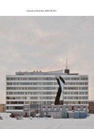 Arkitekturtidskriften KRITIK #11 - Syntes förlag