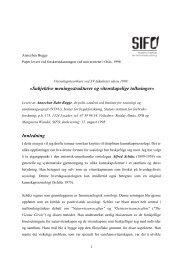 Last ned i fulltekst - SIFO