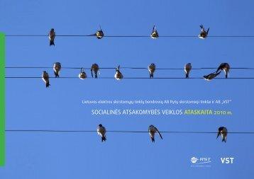 Socialinės atsakomybės ataskaita 2010, AB LESTO