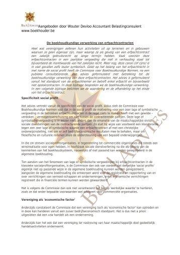 De boekhoudkundige verwerking van erfpachtcontracten (2)