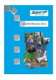 Jaarverslag 2011 - De Meander vzw