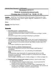 20110921 Skolebestyrelse Referat - Vigersted Skole