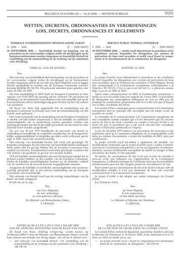 Staatsblad Moniteur - Fédération Royale des Corps de Sapeurs ...