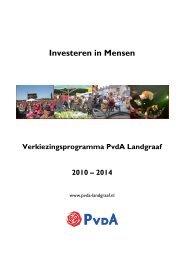 Download het verkiezingsprogramma - PvdA Landgraaf